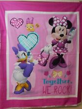 1 Disney Minnie and Daisy Together we Rock  Fabric  Panel