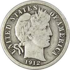 10c Barber Silver Dime Us Coin Vg Very Good Random Date