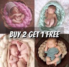 Wool Fluf Blanket Basket Filler Braid Blanket Basket Stuffer Newborn Photo Prop