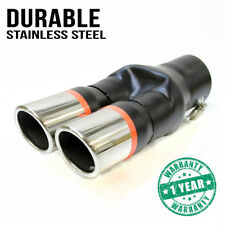 Universal Doble Silenciador de tubo escape embellecedor punta cola CROMO