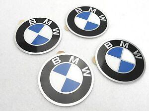 """4x 57mm BMW Aufkleber selbstklebend """"flache"""" Version für Nabendeckel"""