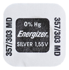 Genuine Energizer 303 SR44SW SB-A9 Silver Oxide Watch Battery 1.55v [1-Pack]