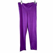 Vintage  80s Rainbeau Bodywear Aerobics Pants Dance Size Large Purple Girls USA