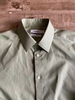 Calvin Klein Mens Green Slim Fit Non Iron Button Up Dress Shirt 15.5 32/33