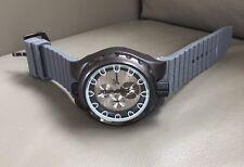 Men's Grey Designer Type Wristwatch Watch, Heavy, Big Face, NEW!