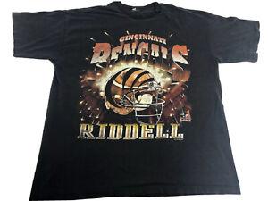 Vintage Cincinnati Bengals Riddell Shirt Single Stitch 1997 Size XL