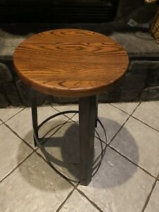 Industry West Industrial Wood And Metal Bar Stool