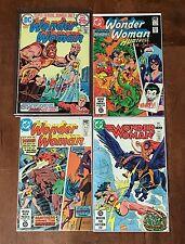 Vintage Wonder Woman Comics Lot Of 4 Comic Book Wonder Woman
