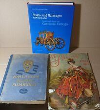3 gr. alte Bücher/Zeitung ab 1907 Kutschen Wittelsbacher Film-Sammelbilderalbum