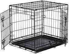 Indoor Bunny Rabbit Cage Crate Kennel Small Pet Dog Double-Door Metal Portable