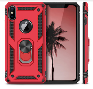 Apple IPhone X Case Premium Kickstand Heavy Duty Red Protective Flexible TPU NEW