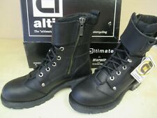 """ALTIMATE """"NYC"""" MOTORCYCLE  BOOTS - US MENS 9 - ARMOR / INSULATED - GRIPPY SOLE"""