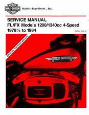 1978 1/2 -1984 Harley Davidson FL FX Motorcycle Service Manual : 99482-84