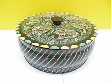 Vintage Alpine Metal Round Tin with Lid Pioneer Can Co. Clifton, N.J.