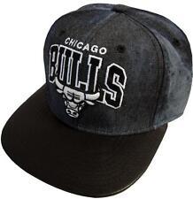 Mitchell & Ness Chicago Bulls Black Dyed Denim EU234 Snapback Cap Kappe Basecap
