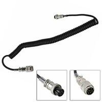 Round 8 Pin Mic Extension Cord Mic Plugs 6'' Male To Female For KENWOOD YAESU