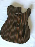 1pc Finished Electric Guitar Body Zebra wood Replacement for TL style