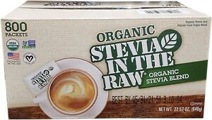 Organic Stevia In The Raw 22.57oz (800 Packets)