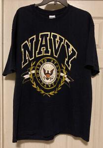 Men'sXL Gildan Activewear Ultra Cotton Heavyweight Short Sleeve  US Navy T-Shirt