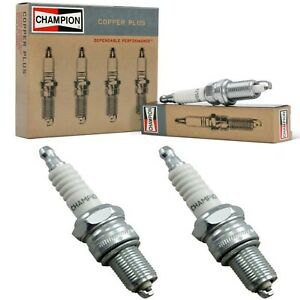 2 Champion Copper Spark Plugs Set for 1959-1965 BMW ISETTA H2-0.7L