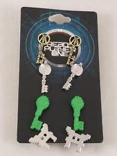 -new-ready-player-one-three-keys-gate-earrings-set-4-pair-copper-jade-crystal