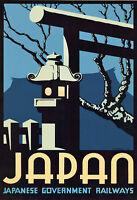 TT25 Vintage Japan Japanese Railways Travel Poster Print A3 A2