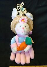 Easter Bunny in Pink Glove Plush Toy Decoration - Not a Toy