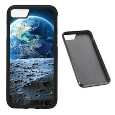 Earth from the moon space RUBBER phone case Fits iPhone