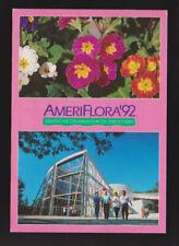 NATURE AmeriFlora '92 International Horticultural FLOWERS CONTINENTAL  postcard