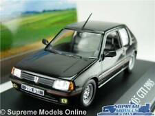 PEUGEOT 205 GTI MODEL CAR 1:43 SCALE 1985 BLACK IXO ATLAS 2891014 MYTHIQUES K8