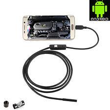 5m Impermeable 7mm 6 LED USB Android Endoscopio Inspección Tubos Teléfono Cámara