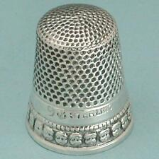 Antique Sterling Silver Cherubs or Putti Band Thimble by Stern Bros * Circa 1900