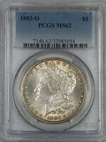 1883-O Morgan Silver Dollar $1 Coin PCGS MS-62 Toned (Ta)