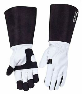 Kinco 2103 Womens Rose Gardening Gloves Gauntlet Extended Cuff Thorn Protection