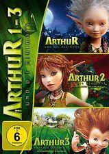 ARTHUR UND DIE MINIMOYS 1-3  (MIA FARROW, FREDDIE HIGHMORE, ...)  3 DVD NEU