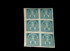 Vintage Stamp, AUSTRIA, DEUTSCH ÖSTERREICH,1920 BLOCK OF 6, MNH, #AT P32, Imperf