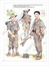PLANCHE UNIFORMS PRINT WWII AUSTRALIA ARMY ARMEE AUSTRALIE Royal Australian