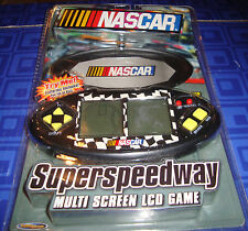 NASCAR Superspeedway  Electronic Handheld Travel Game New In Package Double PIC