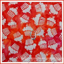 BonEful Fabric FQ Cotton Quilt Batik Red Orange White Cherry Cupcake Birthday NR