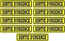 LOT DE 9 AUTOCOLLANTS LUSTRÉ, SORTIE D'URGENCE, POUR INTÉRIEUR OU EXTÉRIEUR