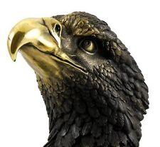Tierfigur aus Bronze - Adler auf Marmor - signiert Milo