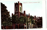 Old WARSAW Indiana Ind Postcard First ME Church