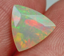 0.8Ct Natural Ethiopian Welo Opal Faceted Cut Play Of Color QOL1162