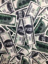 "Money pattern 4 way stretch spandex fabric, one hundred dollar bill, BTY 60"""