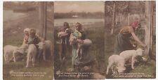 Set of 6 Springtime Lambkins Postcards, B608