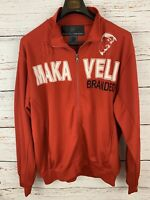Makaveli Mens sz L Red Track Suit Jacket Vtg Tupac 2Pac Full Zip