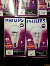 Philips Soft White G25 LED Clear Dimmable Sparkle Effect Bulb 40w/4.5 lot of 8