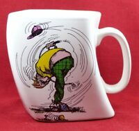 "Golf Coffee Mug ""The Results Of Over Swing"" 1991"