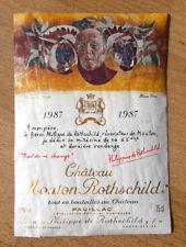 Étiquette - Mouton Rothschild 1987 - 75 cl.