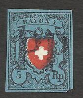 SWITZERLAND Sc# 7 USED FORGERY